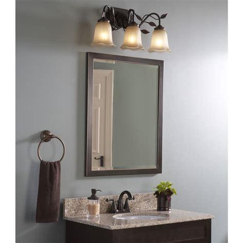 Bronze Bathroom Mirror by Shop Allen Roth 30 In H X 24 In W Rubbed Bronze