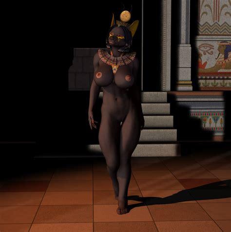 Rule 34 3d Animun Anubian Jackal Big Breasts Black Hair Breasts Canine Deity Egyptian Female