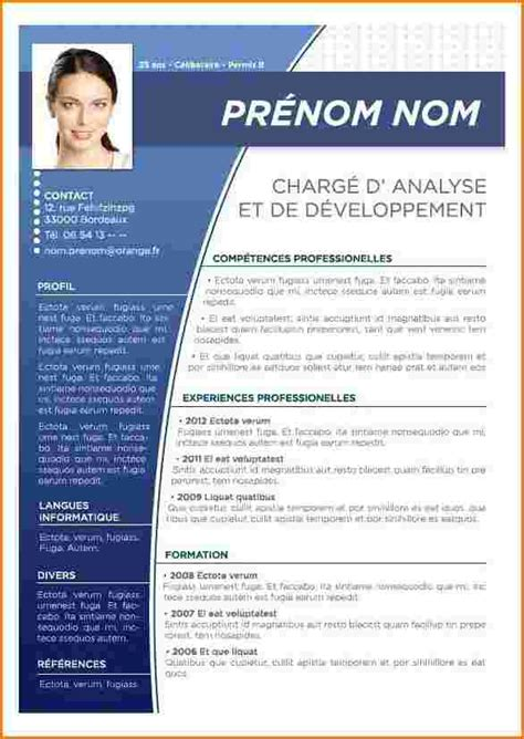 Model De Cv 2016 Gratuit by Mod 232 Le De Cv Professionnel 2016 Exemple Cv 2016 Word
