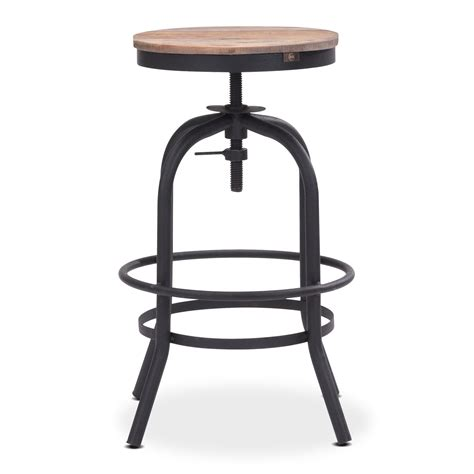 elston adjustable backless counter height stool american