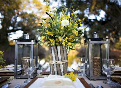 Barn Wedding Centerpieces : Rustic Country Wedding Centerpieces