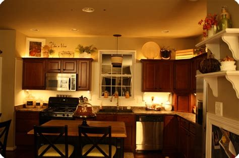 Kitchen Mood Lights by Mood Lighting In The Kitchen From Thrifty Decor