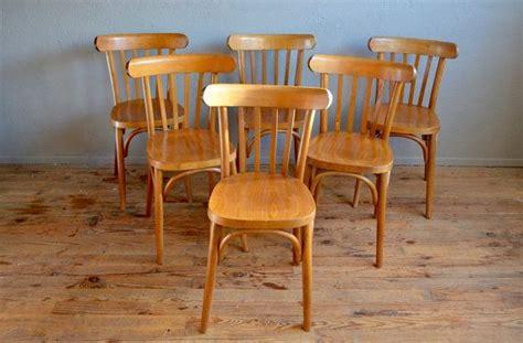 chaise bistrot ancienne baumann chaises bistrot lot de 4 style baumann ées 60 bois