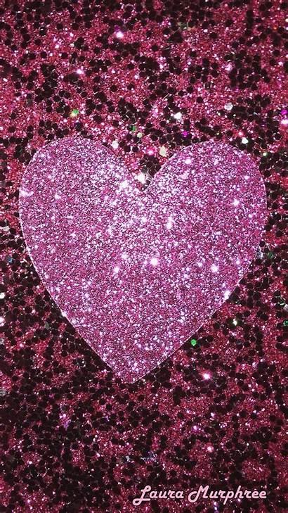 Glitter Iphone Heart Sparkling Phone Glitterart Sparkle