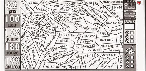 coloriage magique tables de multiplication cm1 imprimer coloriage magique math calcul addition ce1 et ce2 ecole