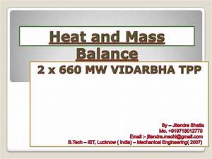 Heat Balance Diagram