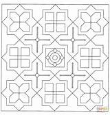 Coloring Mandala Square Pages Printable Paper Puzzle sketch template