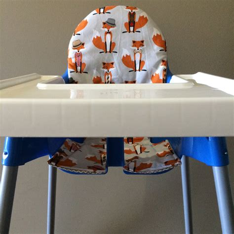 Ikea Antilop High Chair by Ikea Antilop High Chair Cover Cotton Orange Foxes And Grey