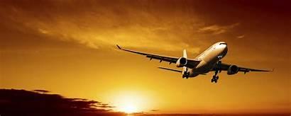 Understanding Flights Sunset Airplane Landing Dusk Airliner