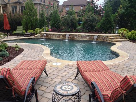 free form pool craftsman pool atlanta by