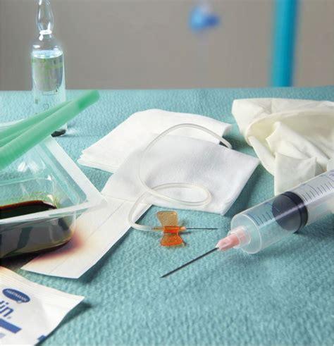 pose de perfusion sur chambre implantable set pose chambre implantable aiguille de huber sécurisée