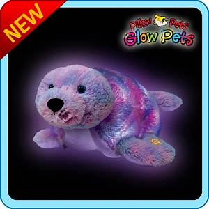 """Authentic LED Seal Pillow Pets Glow Pets Large 17"""" Toy Gift"""