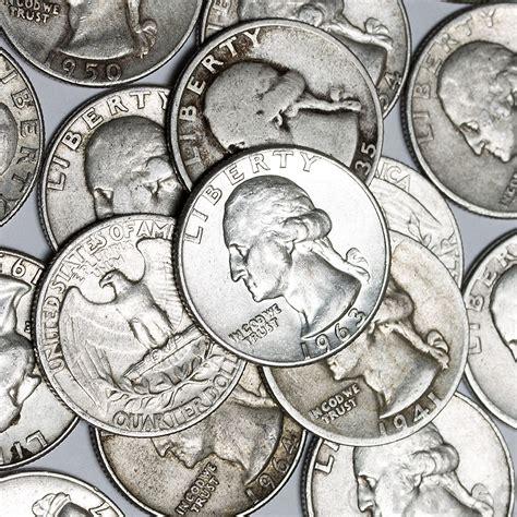 silver quarter buy 90 silver washington quarter roll 40 coins 90 percent silver 90 silver quarters buy