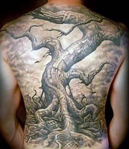 50 Oak Tree Tattoo Designs For Men - Leaves And Acorns