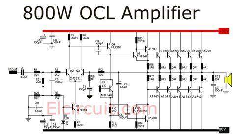 800 watt power lifier ocl ravi circuit diagram arduino and electronics projects