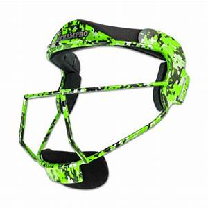Champro The Grill Softball Fielders Mask Lime Digi Camo