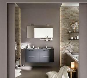 7 idees pour sublimer sa salle de bains travauxcom With salle de bain design avec meuble de sdb castorama