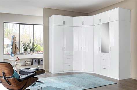 interieur placard cuisine armoire d 39 angle clack blanc portes miroirs