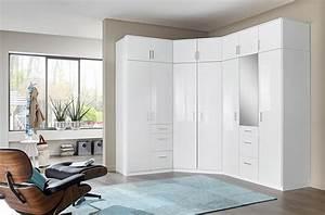 Armoire D Angle Chambre : armoire d 39 angle clack blanc portes miroirs ~ Melissatoandfro.com Idées de Décoration