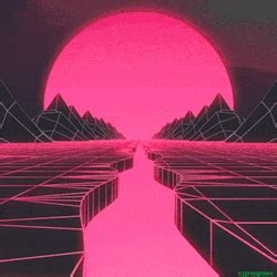 Aesthetic Neon Wallpaper Gif by Kidmograph Mindsc Pe Animated Gif Retro Futurism