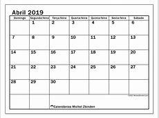 Calendários abril 2019 DS Michel Zbinden PT