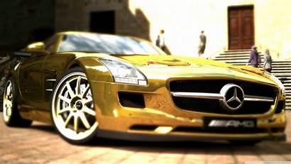 Mercedes Gold Amg Sls Benz Mobile Background