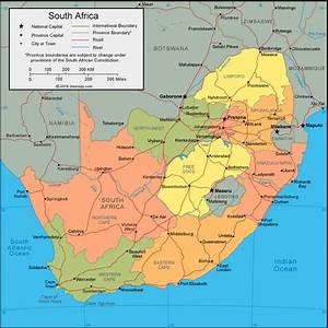 South Africa Map and Satellite Image