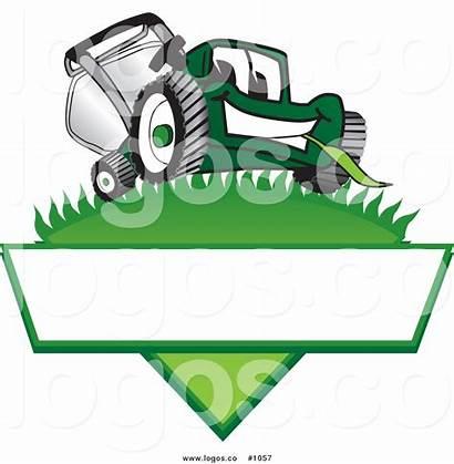 Lawn Mower Clip Logos Care Vector Cartoon