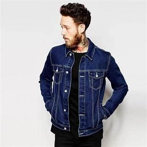 Popular Dark Blue Denim Jacket In New Model For Men Outdoor Wear - Buy Jacket In New Model ...