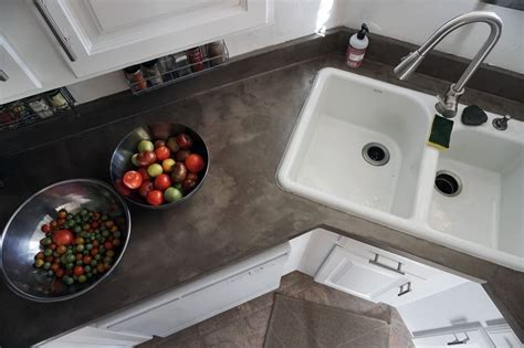 kitchen copper backsplash lovely imperfection diy concrete countertops