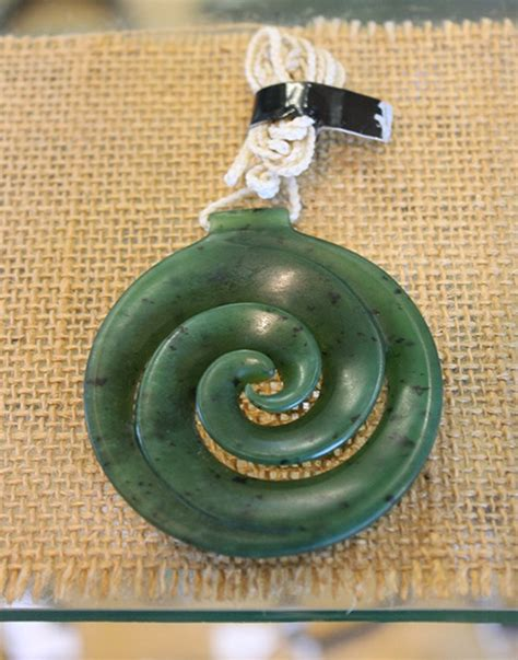 Koru Pendant - Traditional Jade