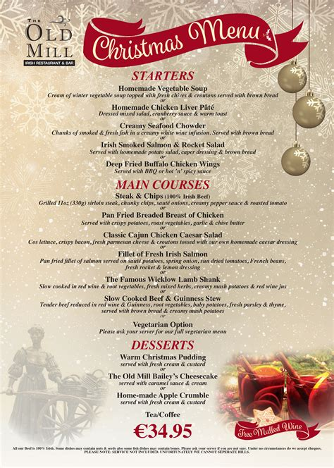 Forget about your annual christmas dining tradition and take the middle eastern route with fat prince's festive menu. Irish Christmas Dinner Menu / Irish Christmas Traditions In Ireland Irish Traditions : Irish ...