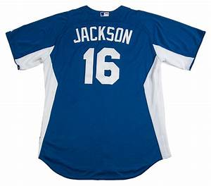lot detail bo jackson game worn kansas city royals With royals jersey with gold lettering