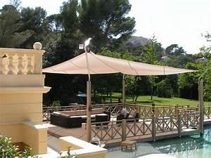 Voile Pour Pergola : petit paradis voile d 39 ombrage pergola jolie espace lounge voiles pour terrasses ~ Melissatoandfro.com Idées de Décoration