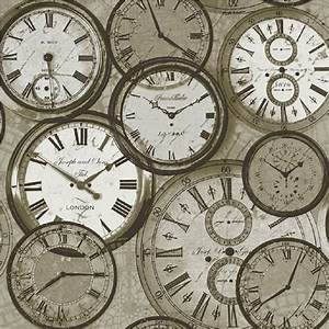 Ideco Home Time Vintage Clocks Watches Retro Wallpaper POB ...