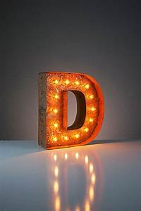 mini vintage marquee lights 12quot letter d With mini marquee letters