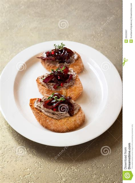 pate canapes canapes with chicken liver pate royalty free stock