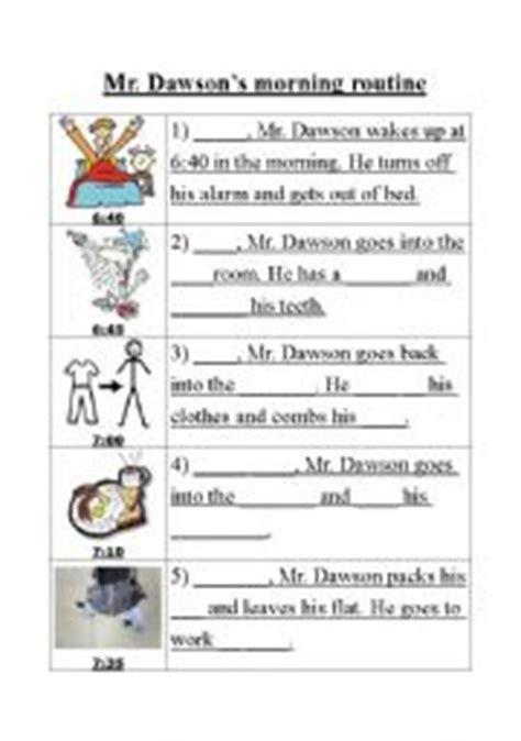 english worksheets morning routine worksheet