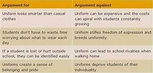 an argument against school uniforms