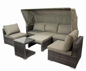 Polyrattan Lounge Set Grau : loungeset sitzgruppe liegeinsel gartenm bel liege lounge manacor alu rattan grau 4050747361618 ~ Indierocktalk.com Haus und Dekorationen