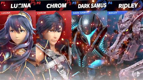 king  rool dark samus  chrom fight   smash