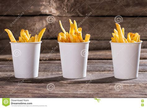 French Fries In Cups. Stock Photo   Image: 70405973