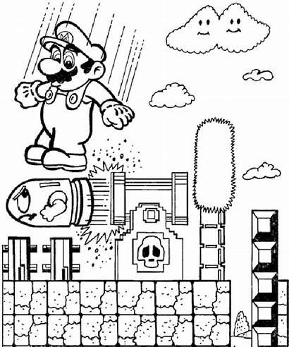 Pages Mario Coloring Super Coloriage Bros Sheets