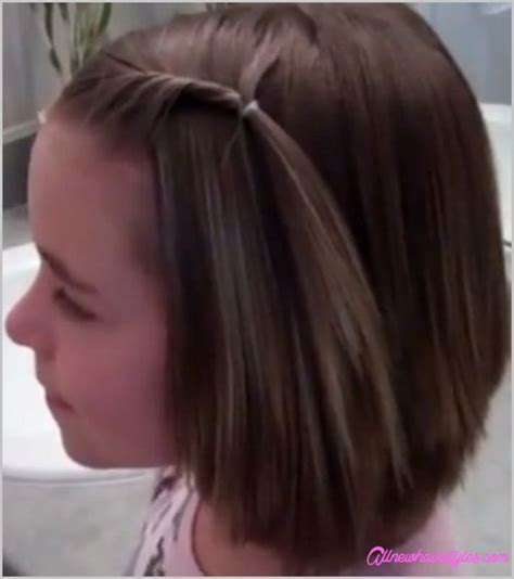 cute short harcut for girls simple easy bob hairstyle