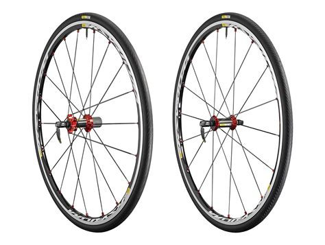 mavic ksyrium elite  red   wheelset