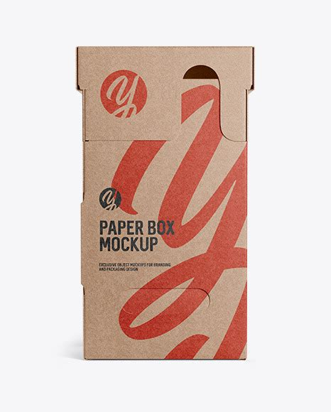 Free for personal and commercial use zip file includes: Kraft Paper Box Mockup Front View - Kraft Paper Box Front ...