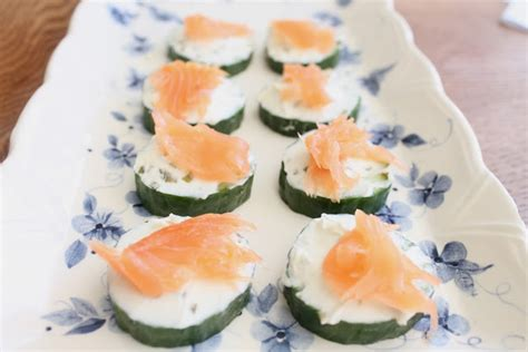 and easy canapes easy canapes salmon cucumber and cheese