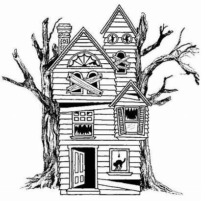 Haunted Halloween Drawing Spooky Doodle Ausmalen Zum