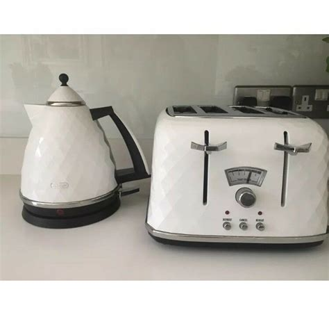 toaster and kettle set delonghi delonghi brilliant white kettle and toaster set in