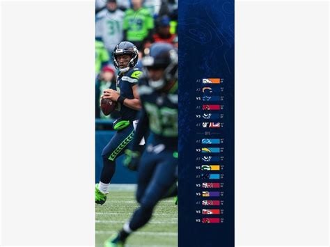 nfl releases seahawks  schedule seattle wa patch